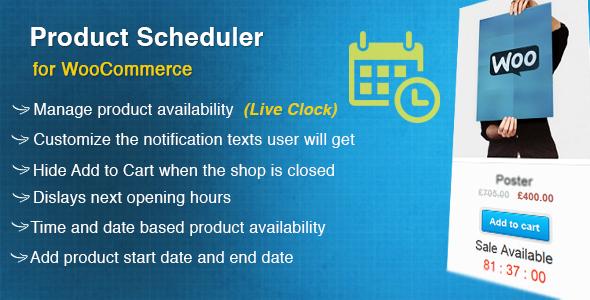 WooCommerce Product Scheduler