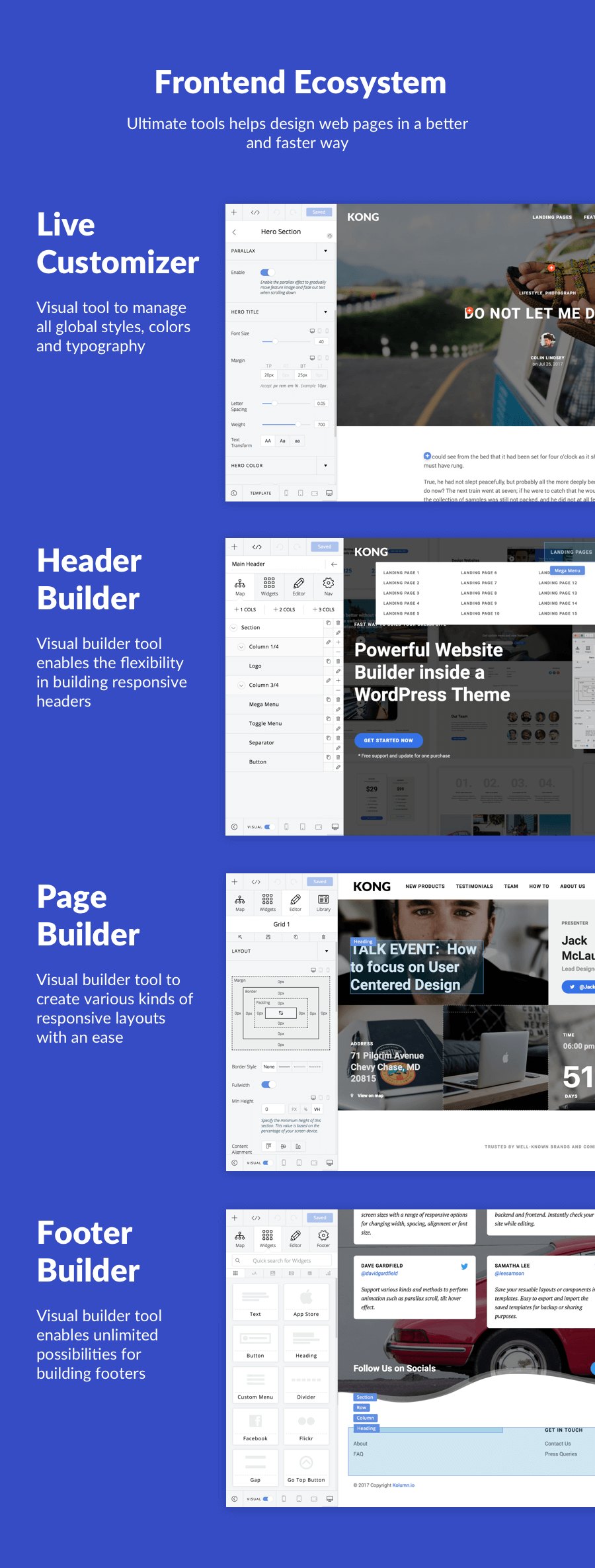 KONG - Website Builder WordPress Plugin - 2