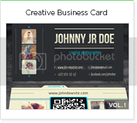Creative photo business card