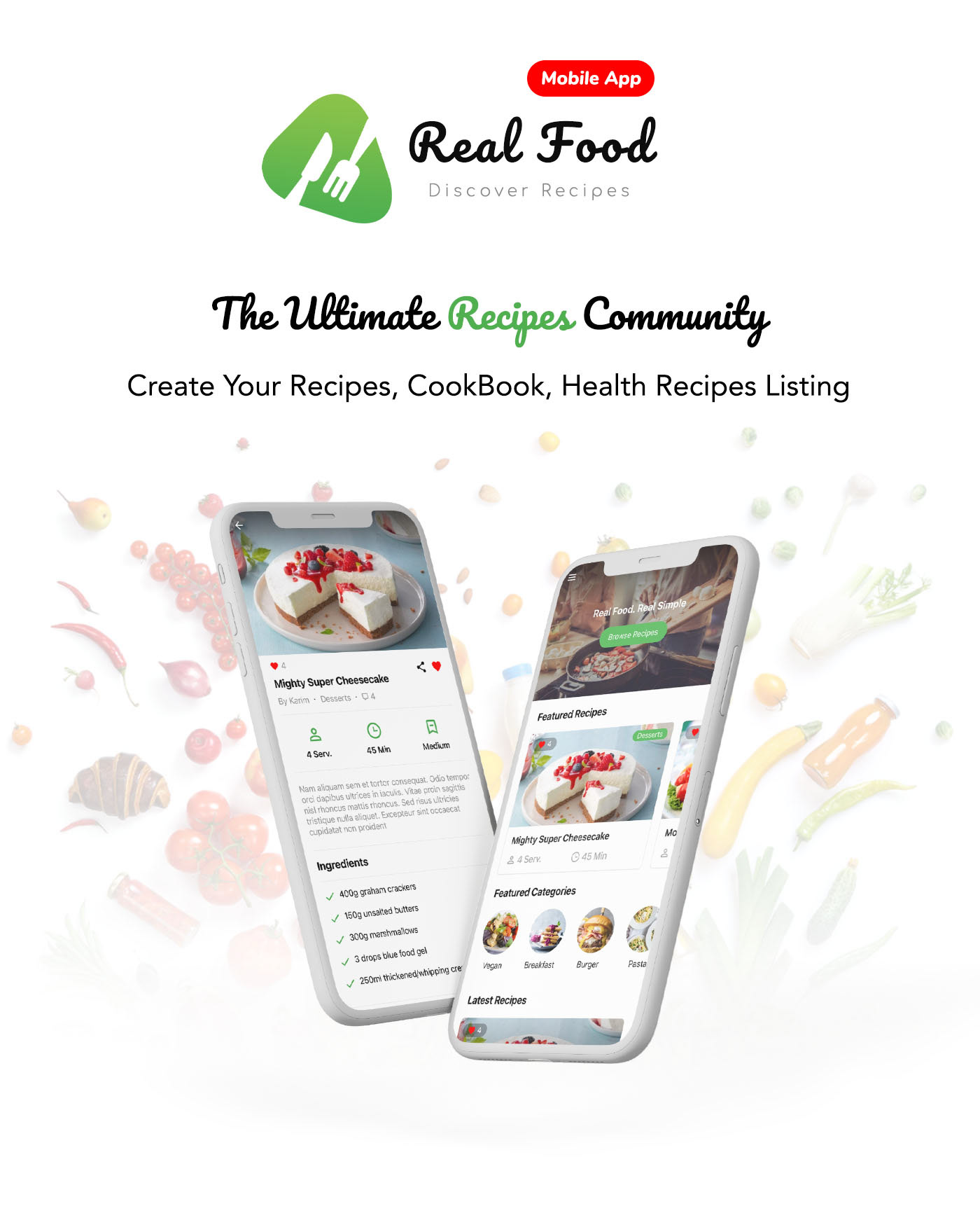 RealFood Mobile   React Native Recipes & Community Food - 2