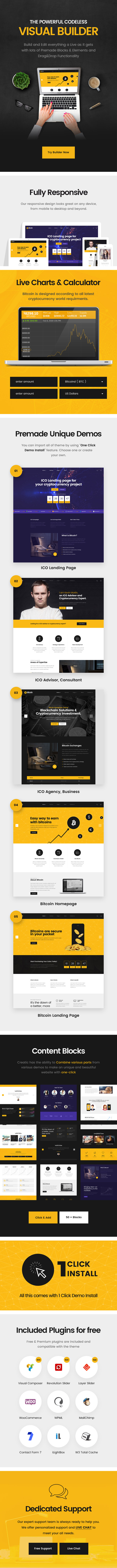 Bomex - Cryptocurrency & Bitcoin WordPress Theme by ellethemes