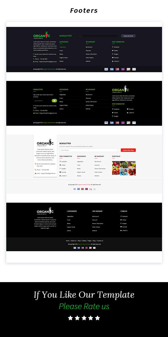 Organic Foods and Fruits PSD Template - 7