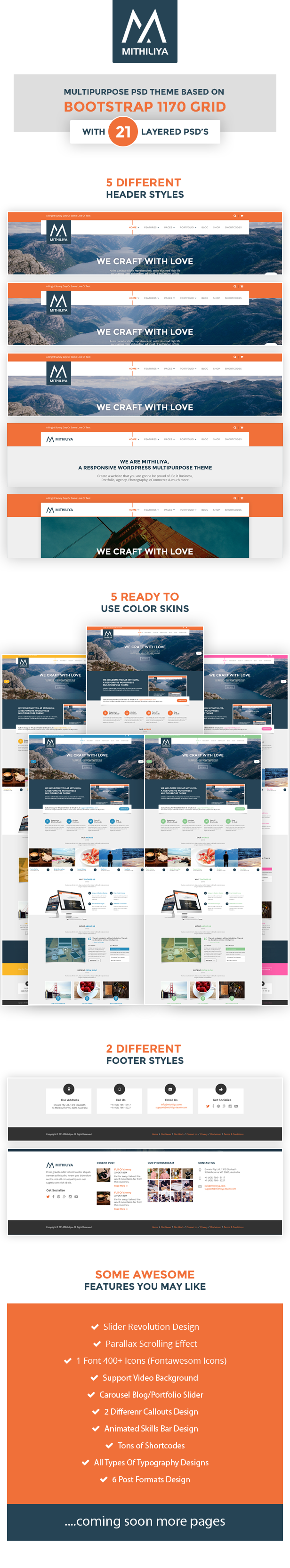 Mithiliya Multipurpose PSD Theme