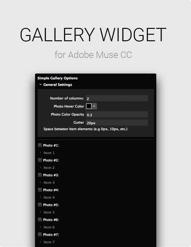 Adobe Muse Gallery Widget