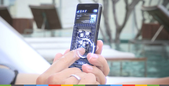Using A Futuristic Touch Smartphone | Stock Footage