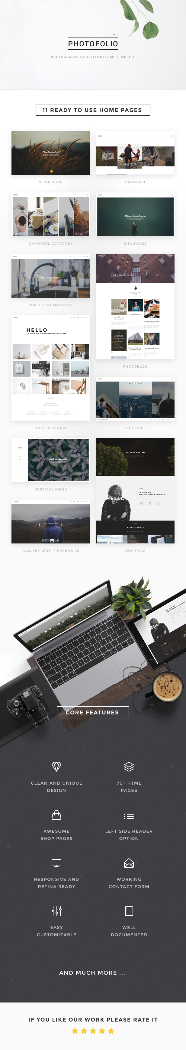 Photofolio - Photography & Portfolio HTML Template by Nunforest ...