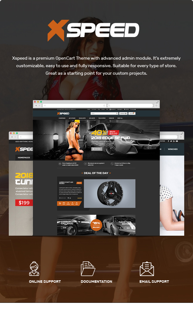Xspeed - Accessories Car Opencart Theme