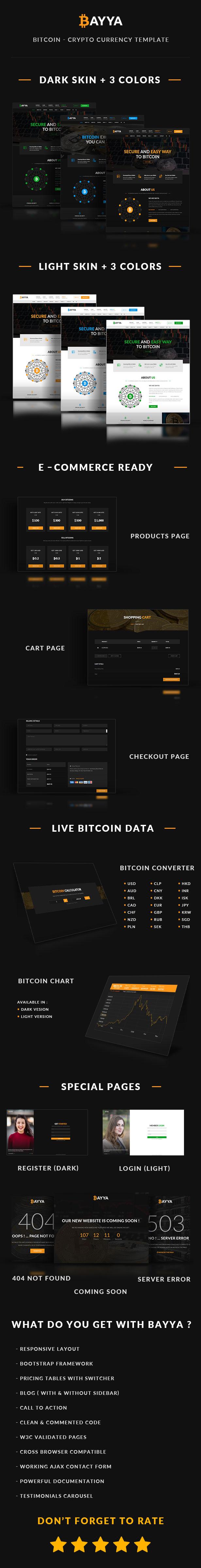 Bayya - Bitcoin Crypto Currency Template - 1
