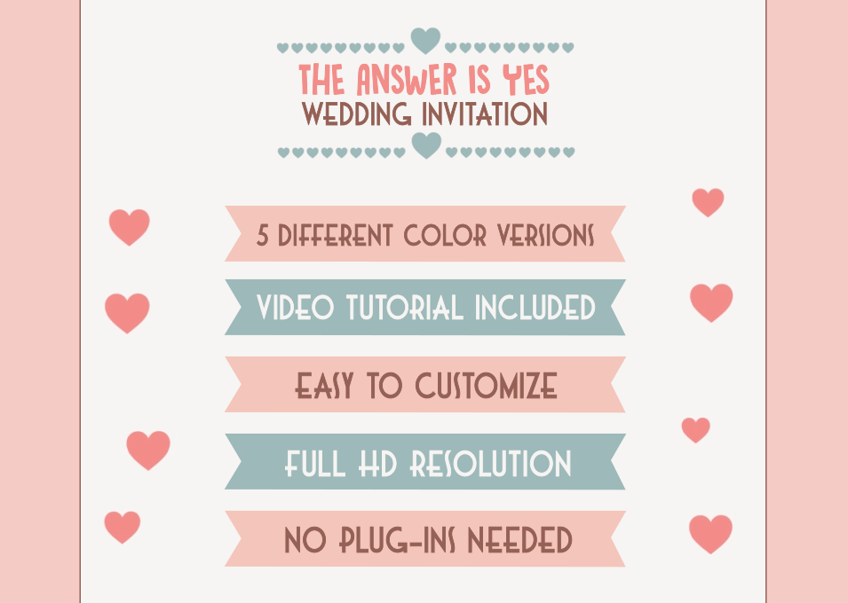 Creative Wedding Invitation by getmotion | VideoHive