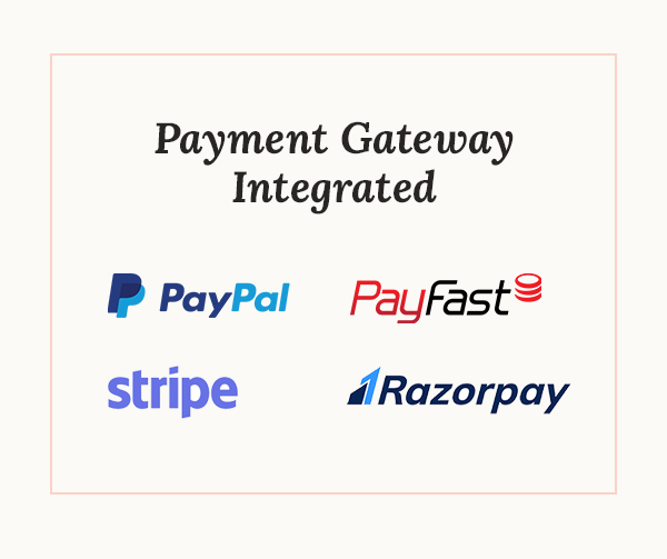 Wedding city - Directory & Listing WordPress Theme Paypal Stripe PayFast RazorPay Payment Gateway Integration