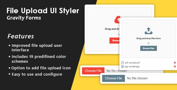 Gravity Forms File Upload Enhance UI
