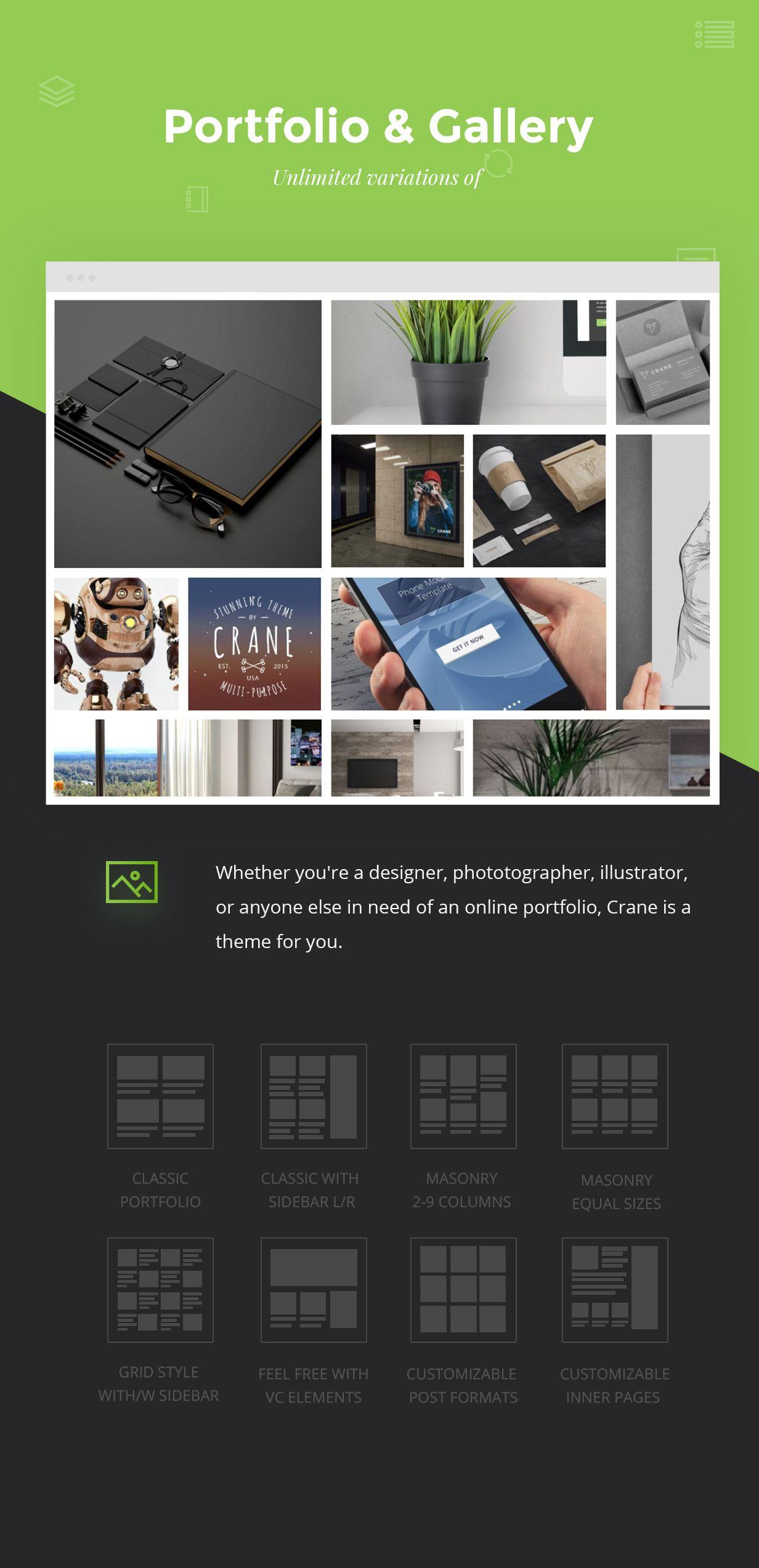 Criamos widgets de Portfólio e Galerias Notáveis