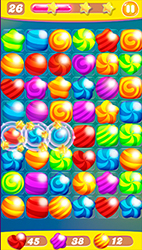 Seamless Candy Background For Game - 2