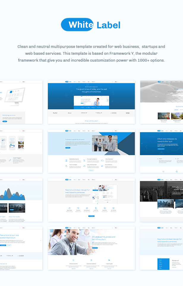 White Label - Clean Template for Modern Web Businesses - 2