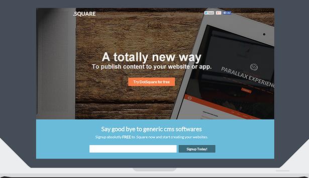 DotSquare App Landing Page - 2