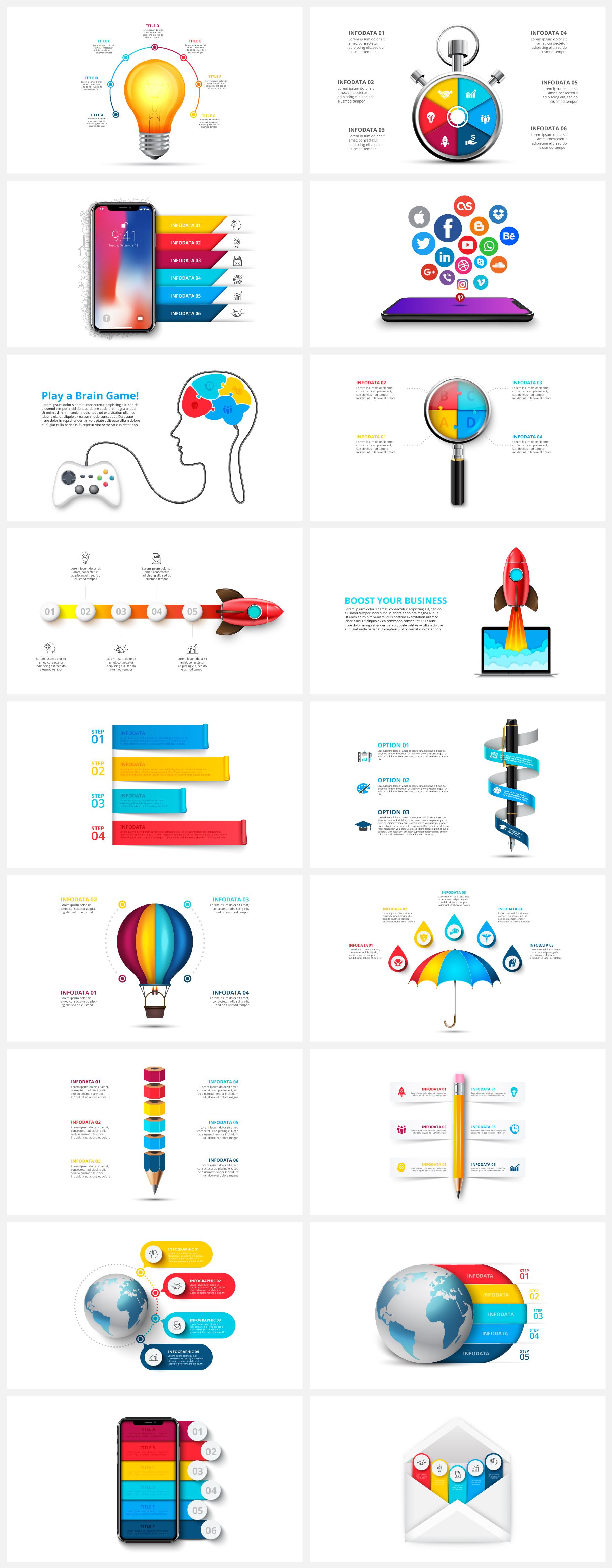 Multipurpose Infographics PowerPoint Templates v.5.0 - 127