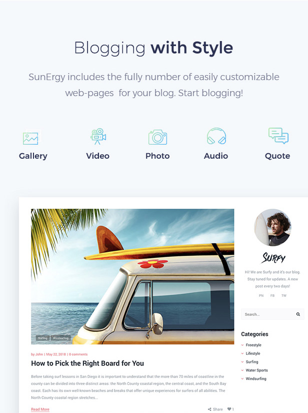 Surfy - Surfing and Water Sports - 5
