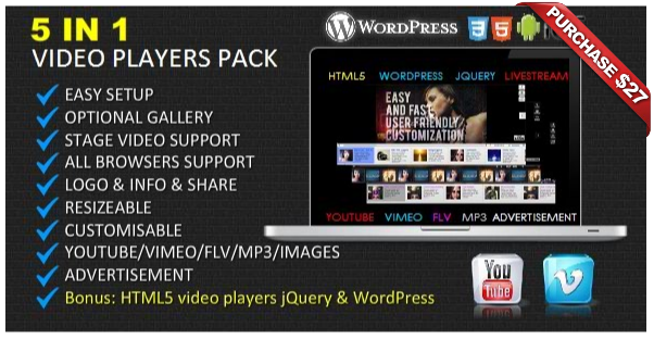Ultimate Video Player with YouTube, Vimeo, HTML5, Ads - 13