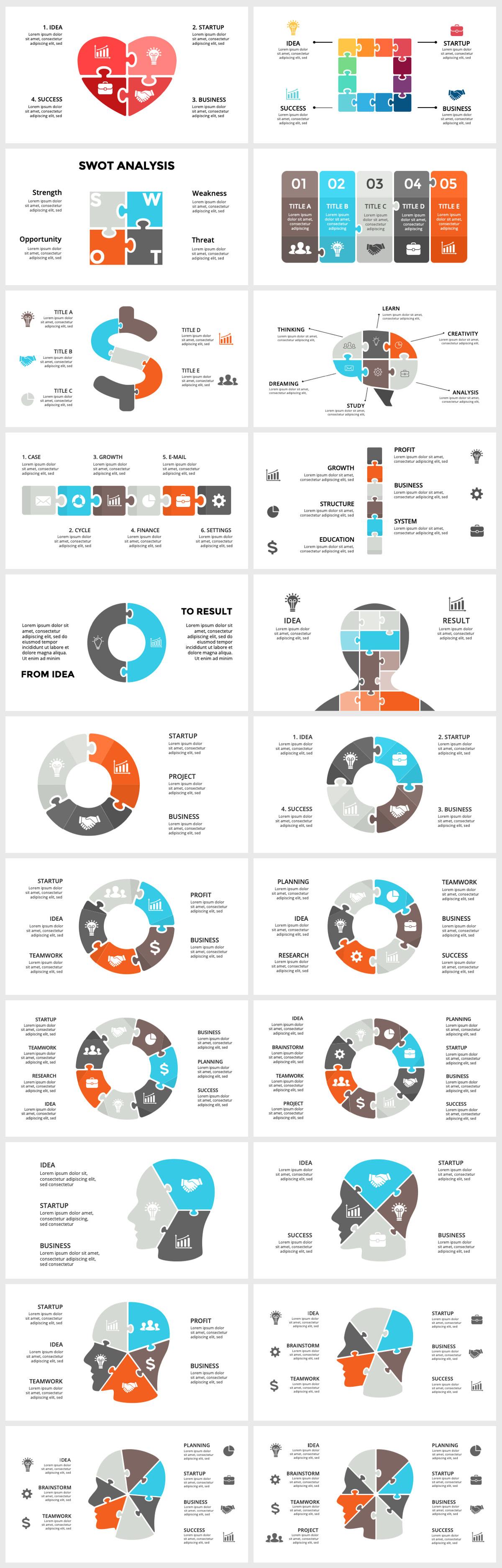 Huge Infographics Bundle! Lifetime Updates! PowerPoint, Photoshop, Illustrator. - 213