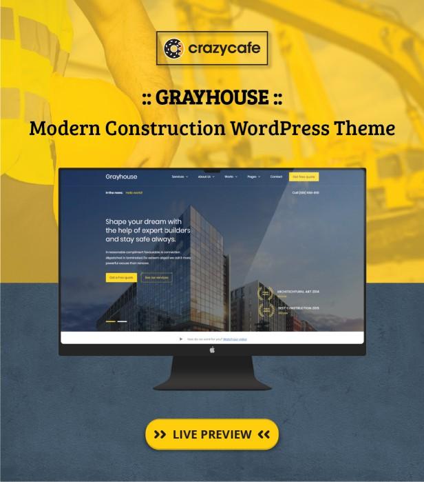 Grayhouse wordpress theme