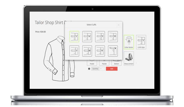 Magento Tailored Shirt Design Online - 16