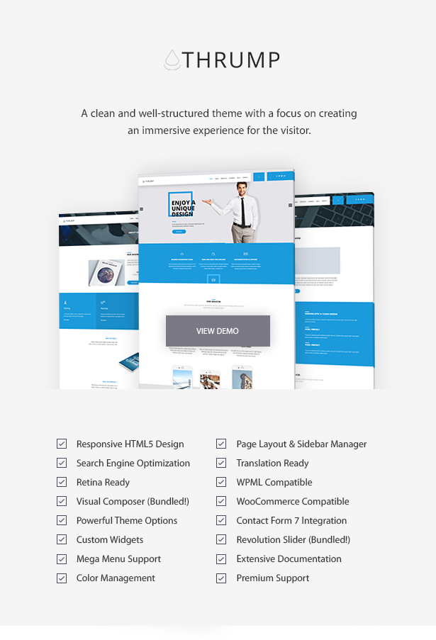 Thrump - Modern Business WordPress Theme
