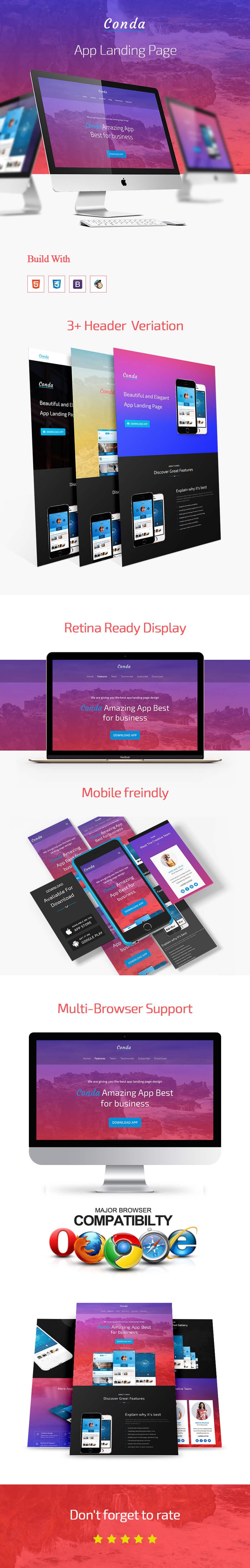Conda - App Landing Page