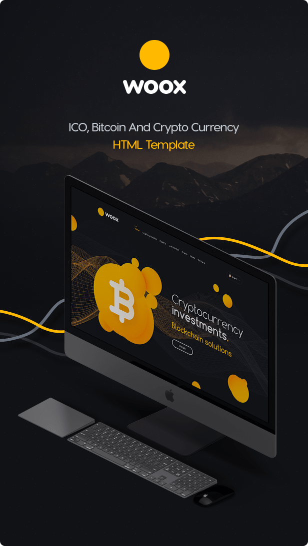 Woox Crypto - ICO,Coins and Cryptocurrency HTML Website Template