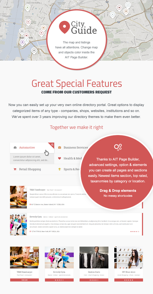 Special Directory Features