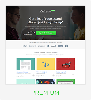 MYCourse - Pagewiz eCourse Landing Pages Pack - 5