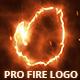 Fire logo reveal pro