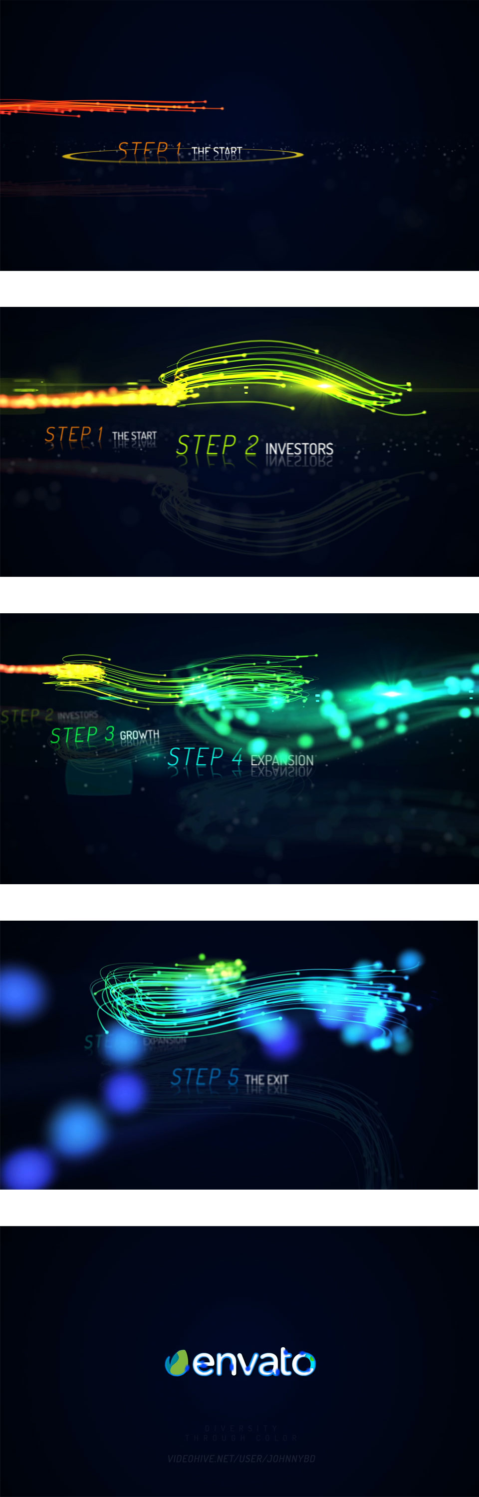 rainbow corporate timeline evolution by johnnybd videohive