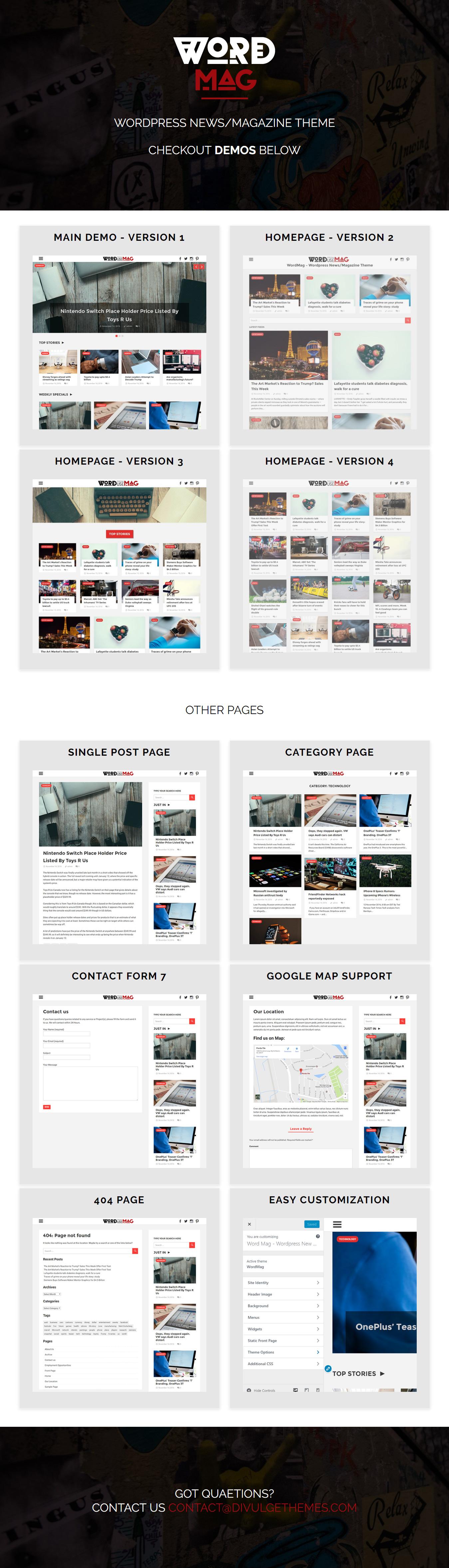 WordMag - Clean News/Magazine Blog - 1