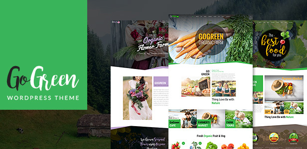 GoGreen - Organic Food, Farm, Market Business WordPress Theme