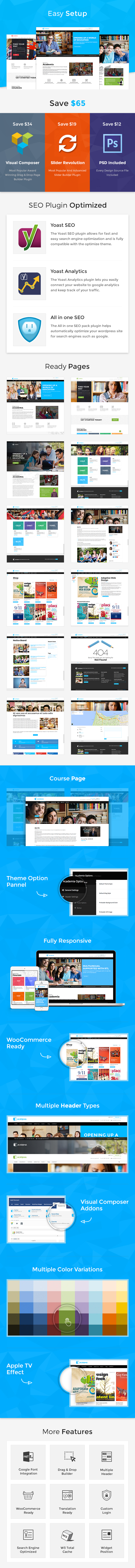Academia Education Template by ThemeXpert