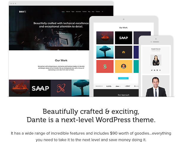 Dante - Responsive Multi-Purpose WordPress Theme - 1