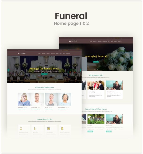 Funeral Service Responsive WordPress Theme by wp-organic | ThemeForest