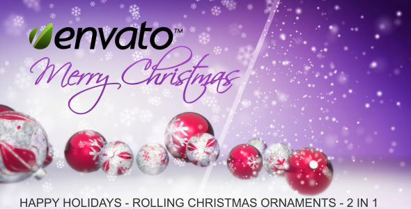 Happy Holidays - Falling Christmas Ornaments - 4