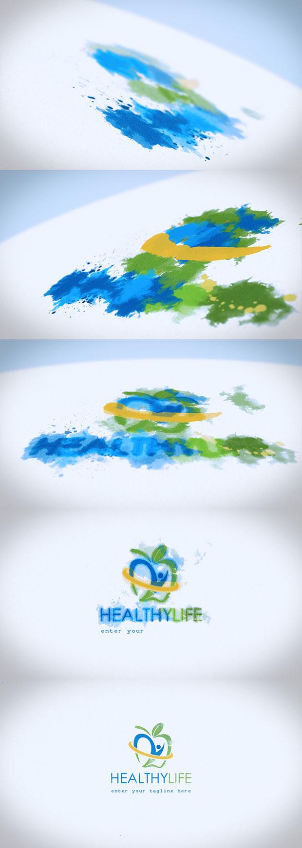 Watercolor & Ink Logo Reveal - 2