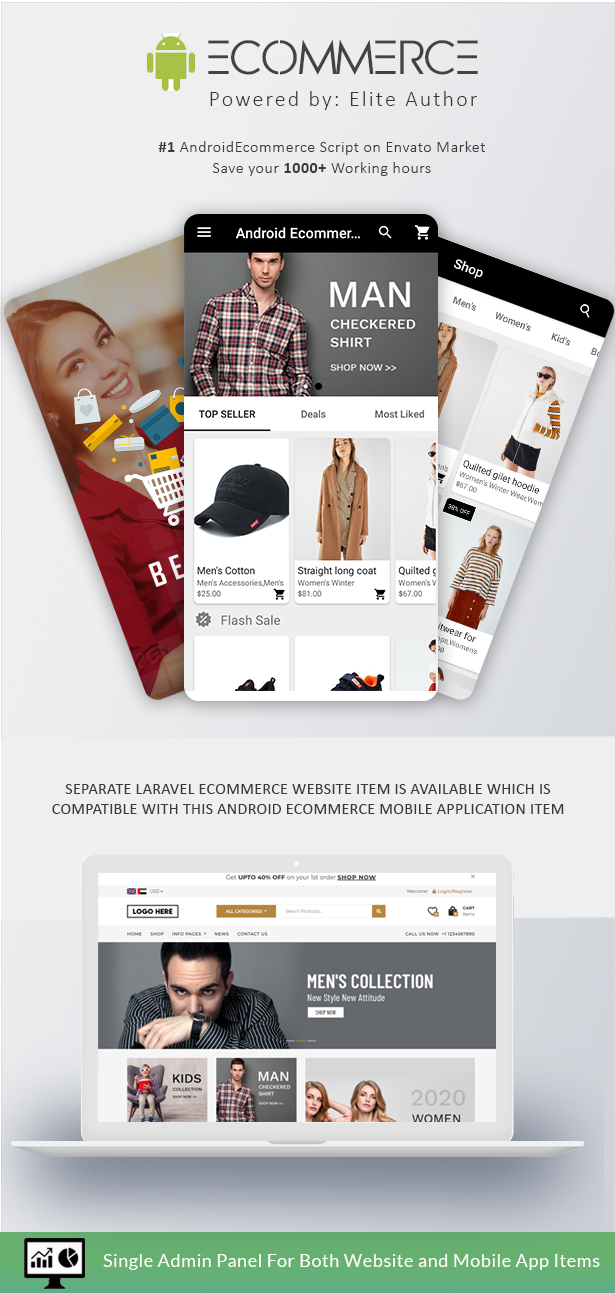 Android Ecommerce - Universal Android Ecommerce / Store Full Mobile App with Laravel CMS - 3