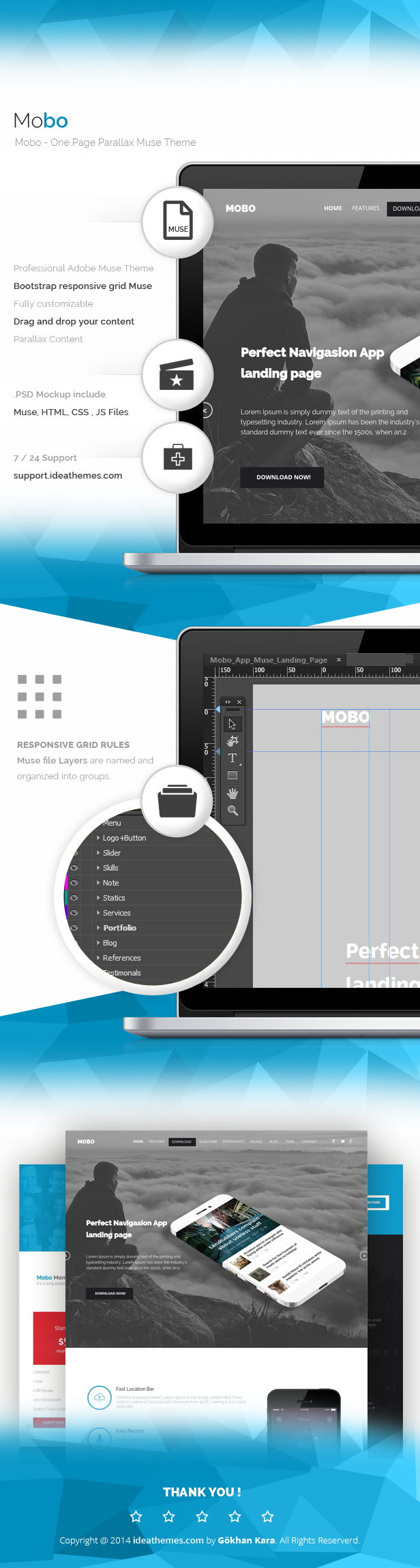 Mobo - One Page Parallax Muse Theme - 2