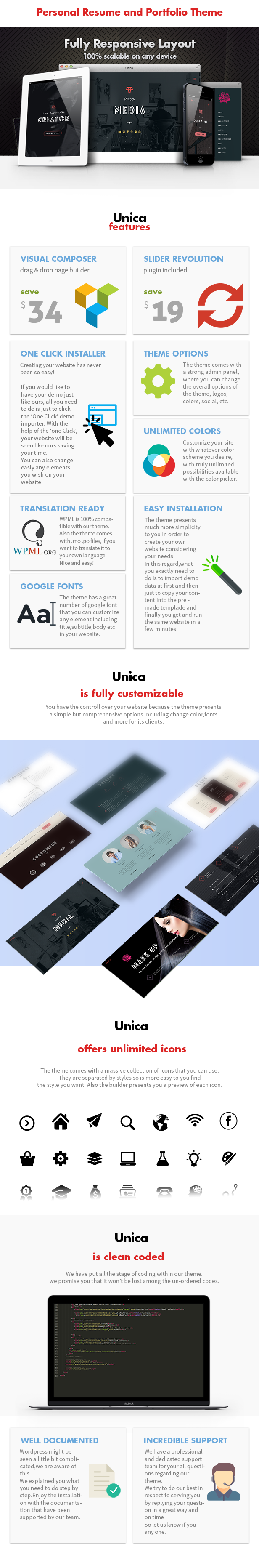 Unica - Personal Resume and Portfolio Theme - 6