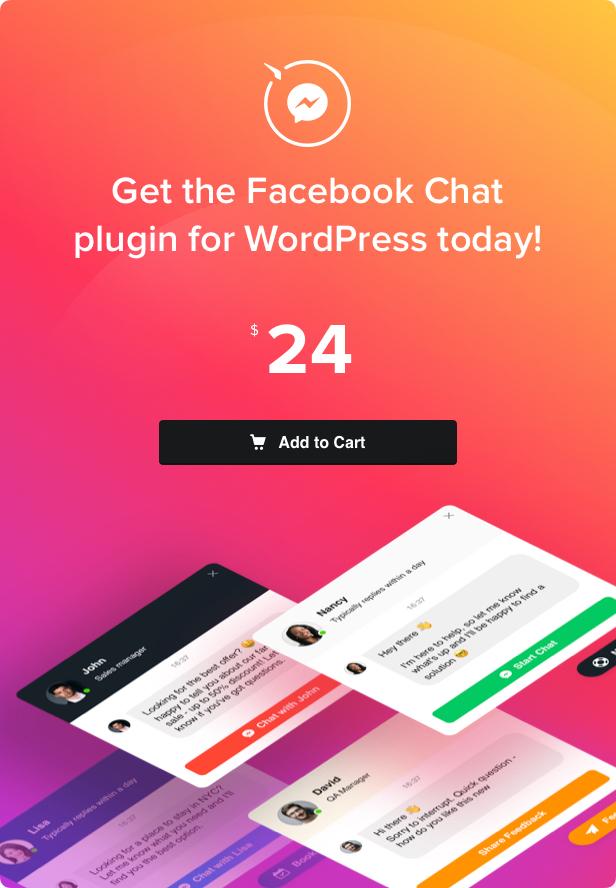 F acebook Sohbet - WordPress Facebook Messenger - 4