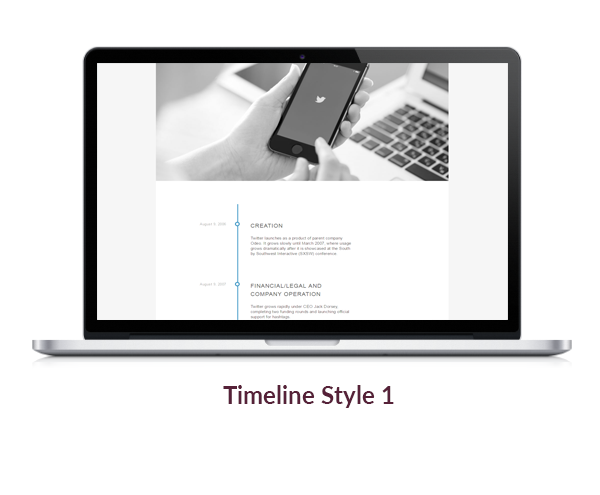 flik timeline style 1