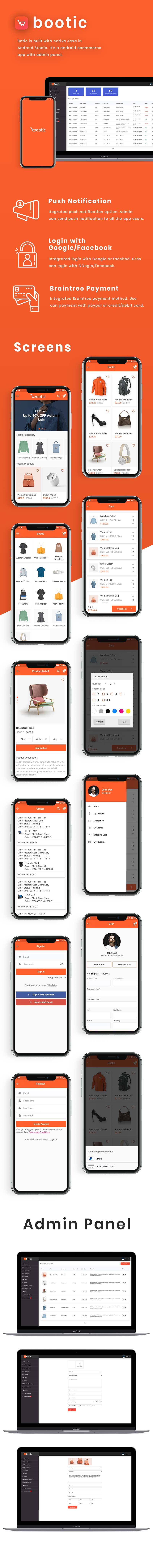 Bootic Full - An android eCommerce app with admin panel - 3