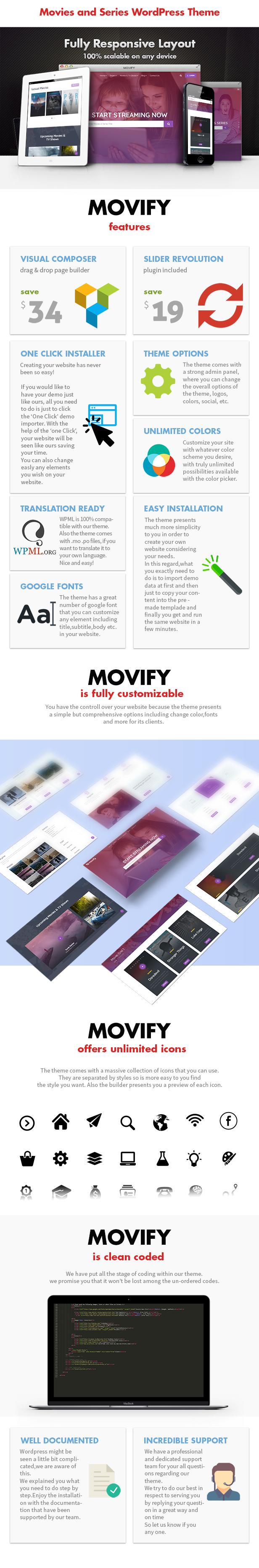 Movify – Movie and Cinema Theme - 3