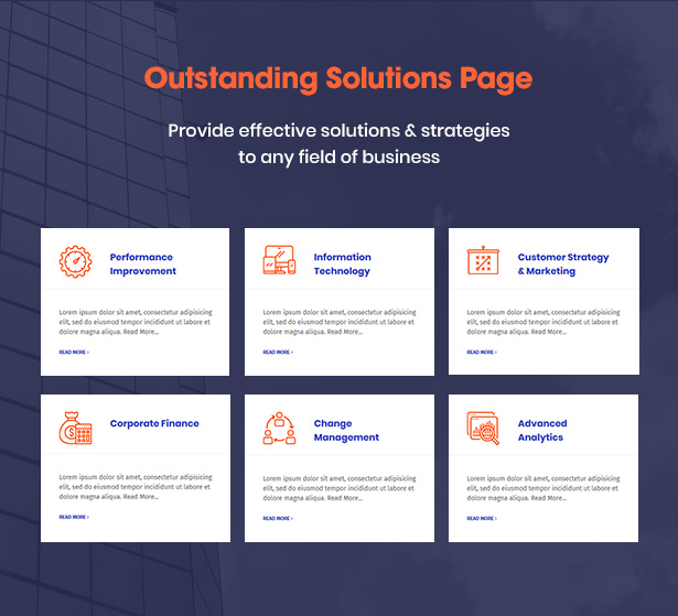 Consultek Solution Pages - Consulting Business WordPress Theme