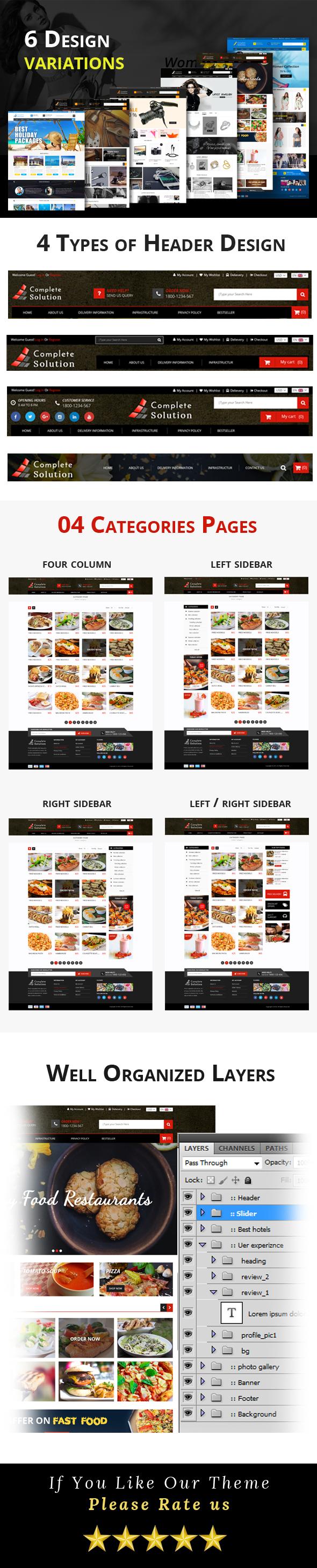 Complete Solution - Multipurpose E-Commerce PSD Template - 1
