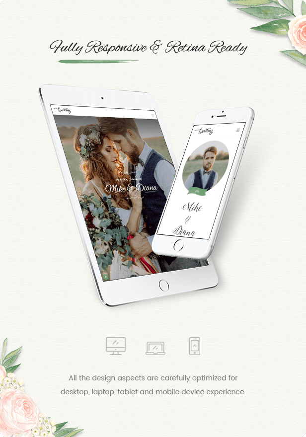 Creative OnePage Wedding Theme