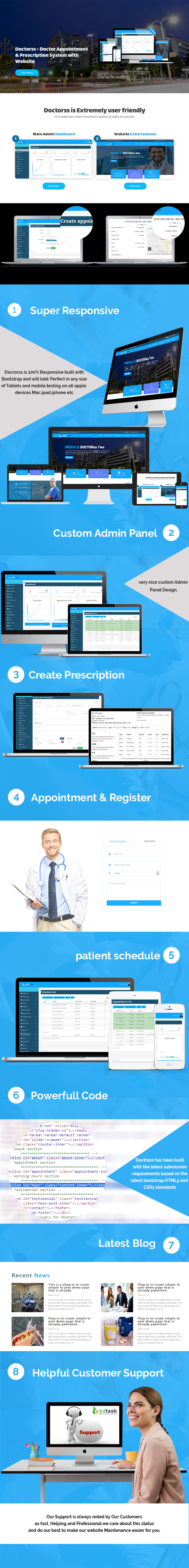 Doctorss doctor appointment and prescription system with website doctorss main features spiritdancerdesigns Images